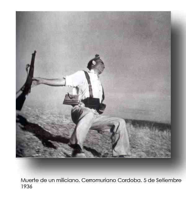 guerra civile spagnola ,morte di un miliziano foto di  F.Capa